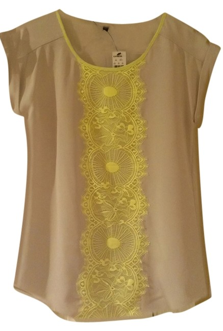 Preload https://item3.tradesy.com/images/express-tanbright-yellow-blouse-size-2-xs-3247837-0-0.jpg?width=400&height=650