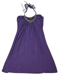 Love & love short dress purple Night Out Beach Style Summer on Tradesy