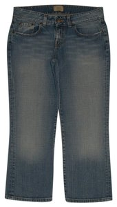 BKE 5 Pocket Style Zip Fly Capri/Cropped Denim-Medium Wash