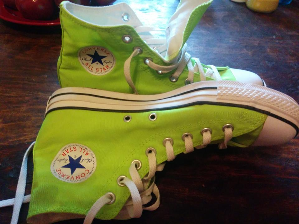ab578ea2253 ... Chuck Taylor® All Star® Ox (ToddlerYouth)  Converse Neon green Athletic.