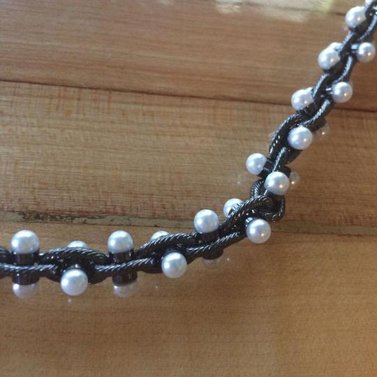BaubleBar Baublebar Owen Pearl Chain Strand Hematite Mixed Metal Long Necklace