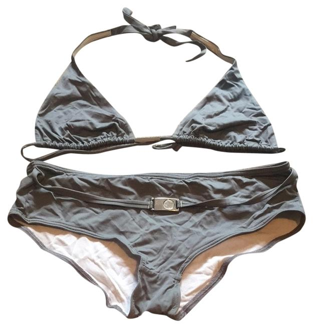 Victoria's Secret Grey Silver Belted Bikini