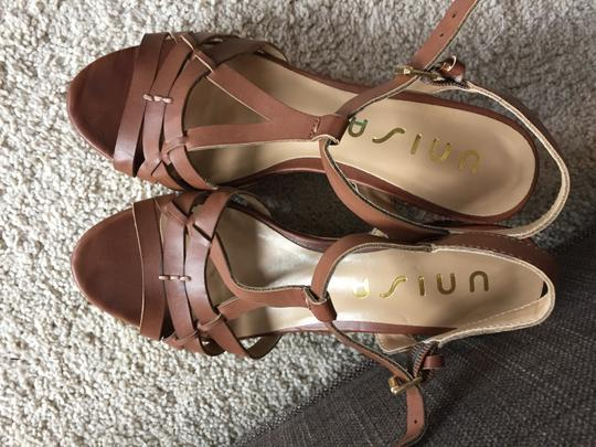 Unisa Sandal Sandal Heel Heel Heel Sandal Sandal Heel Cork Heel Leather Leather Beach Sandal Formal Sandal Brown Wedges