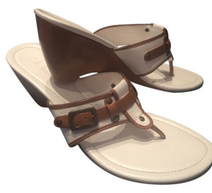 Cole Haan White, Brown Wedges