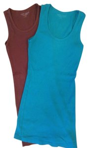 Wet Seal Set Top Teal and Brown