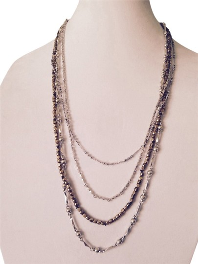 Lucky Brand Two-Tone Multi-Strand Long Necklace