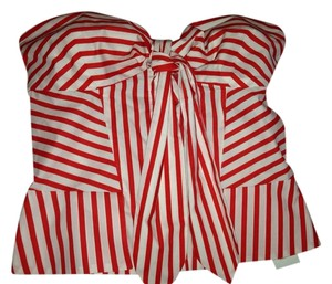 Diane von Furstenberg Top Red & White