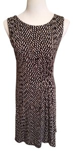 Ann Taylor LOFT short dress Brown Black And White on Tradesy