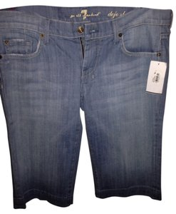 7 For All Mankind Capris Light Blue