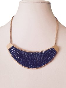 Kenneth Cole Kenneth Cole Gold-Tone Woven Bead Crescent Bib Necklace Only! Matching Pieces Sold Seperately.