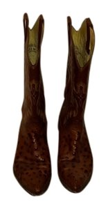 Panhandle Slim Real Ostrich brown/burnt orange Boots
