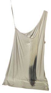 BCBGMAXAZRIA Top white and grey