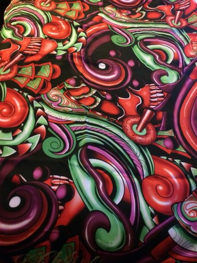 Christian Audigier Colorful Silk Scarf/ Wrap