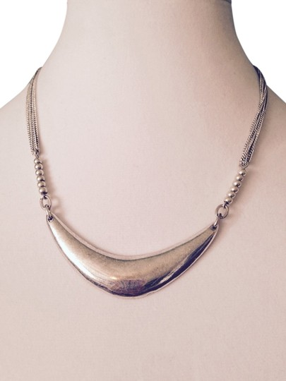 Preload https://item2.tradesy.com/images/kenneth-cole-silver-silver-tone-crescent-multi-chain-necklace-3250171-0-0.jpg?width=440&height=440