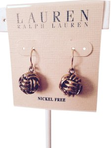 Lauren Ralph Lauren Large Monkey Fist Gold-Tone Dangle Earrings