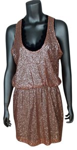 Robert Rodriguez Sequin Lace Lace Trim Layered Sleeveless Blouson Dress