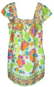 MILLY short dress Bright Pink, Green, Yellow, Blue, & White on Tradesy