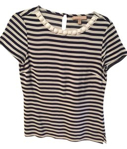 Banana Republic Top Navy & white
