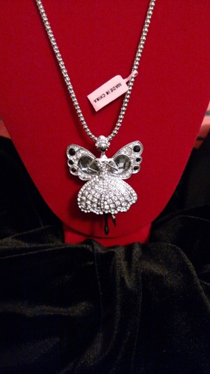 Other Silver Fairy Ballerina Brooch/Pendant with Chain