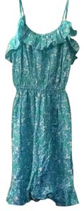 Lilly Pulitzer short dress Lagoon Green Hey Sailor on Tradesy