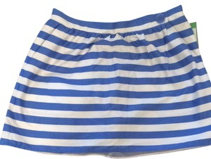 Lilly Pulitzer Skirt Worth Blue Swizzle Stripe