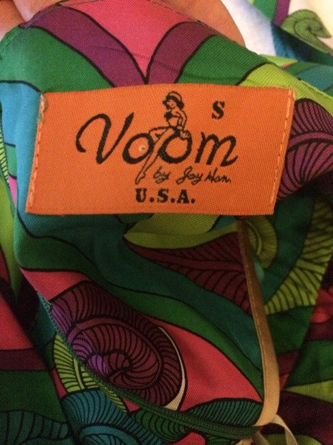 Aqua, Pink, Purple, Green, Gold Maxi Dress by Voom by Joy Han