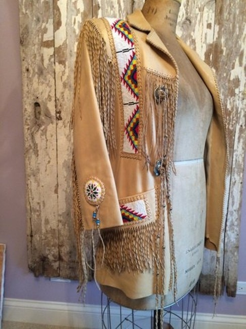 Chambers by Aturo tan Leather Jacket
