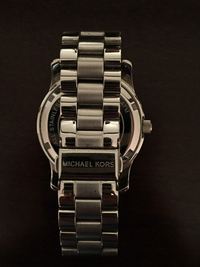 Michael Kors Michael kors silver watch with black face