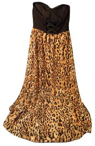 black & leopard Maxi Dress by