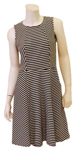 Gabby Skye short dress Black and ivory strip Summer Wear Gifts For Her Business Wear Church Wear Flare on Tradesy