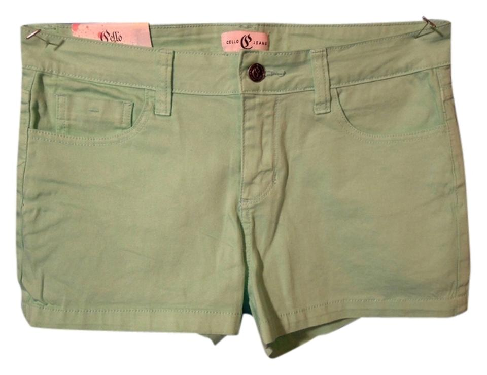 a61a372797 Cello Jeans Green Shorts Size 12 (L, 32, 33) - Tradesy