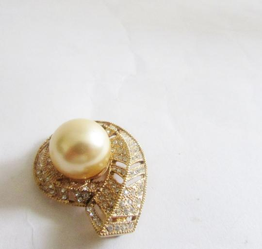 Pearlfection Pearlfection Faux Golden South Sea Pearl Pin without chain