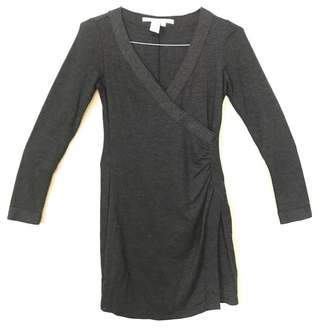 Preload https://item5.tradesy.com/images/max-studio-charcoal-wrap-and-ruched-mid-length-short-casual-dress-size-4-s-3251809-0-1.jpg?width=400&height=650