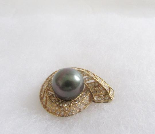 Pearlfection Pearlfection 14mm Faux Tahitian South Sea Pearl Pin without chain