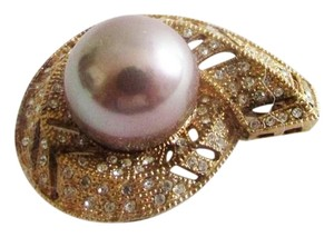 Pearlfection Pearlfection 14mm Mauve Faux South Sea Pearl Pin