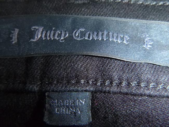 Juicy Couture Embroidered Beaded Capri/Cropped Denim-Dark Rinse