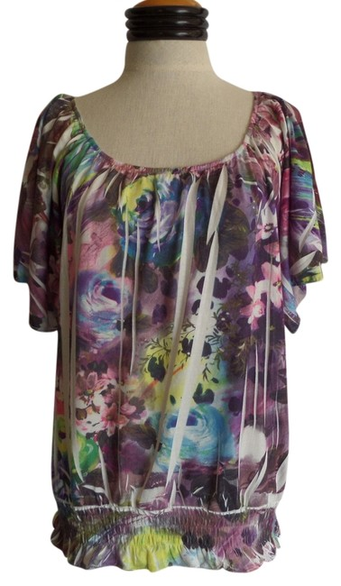 Simply Irresistible Top Multi Color Floral Print