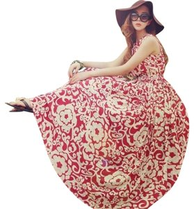Red & White Maxi Dress by Other