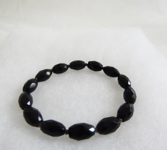 Other Black Onyx Faceted Stretch Bracelet Size 7