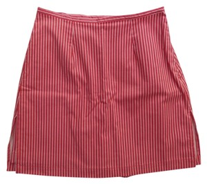 Other St John's Bay Skort Red and White Pinstriped