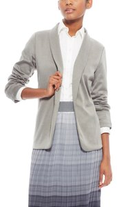 Laundry by Shelli Segal Open Front Ponte Knit Boyfriend Gray Blazer