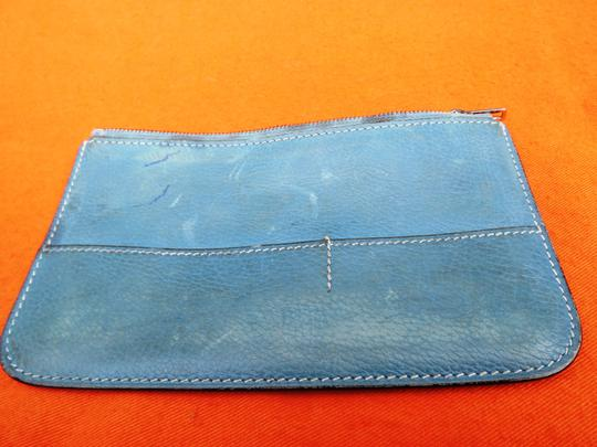 Hermès Hermes Blue Zip Coin Insert for Dogon Duo Wallet