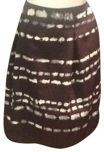 Simply Vera Vera Wang Skirt Brown blue cream
