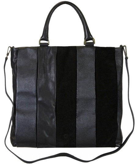 Preload https://item1.tradesy.com/images/pollini-leathersuede-black-leather-tote-3252445-0-0.jpg?width=440&height=440