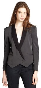 Gemma Colorblock Single Button Charcoal/Black Blazer
