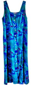 blue-green Maxi Dress by Robbie Bee Rayon