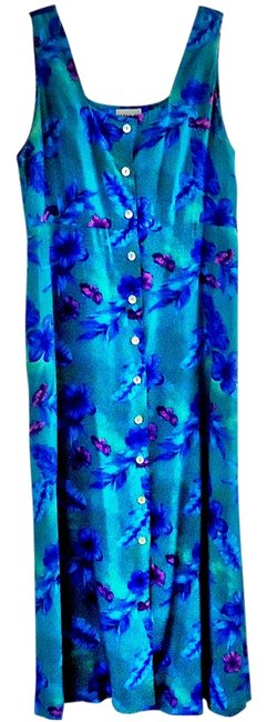 Item - Blue-green Long Casual Maxi Dress Size 10 (M)