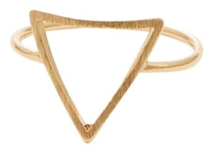 New Size 6, Triangle Ring in Gold