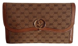 Gucci Gucci Vintage Monogram Canvas and Leather Wallet