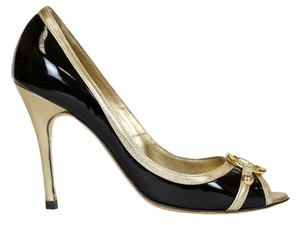 Luciano Padovan Black/Gold Pumps